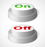 Realistic vector buttons Stock Photography