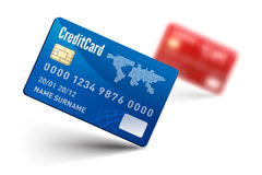 Realistic vector Credit Card Royalty Free Stock Photos