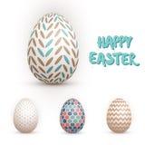 Realistic Vector 3D Easter Egg Set. Happy Easter Painted Vector. Illustration of Realistic Vector 3D Easter Egg Set. Happy Easter Painted Vector EPS10 Egg Set Stock Image
