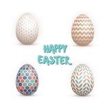 Realistic Vector 3D Easter Egg Set. Happy Easter Painted Vector. Illustration of Realistic Vector 3D Easter Egg Set. Happy Easter Painted Vector EPS10 Egg Set Stock Images