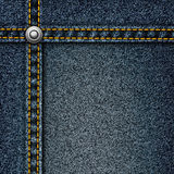 Realistic vector denim background. Royalty Free Stock Images