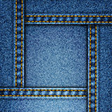 Realistic vector denim background Royalty Free Stock Images