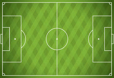Realistic Vector Football - Soccer Field Stock Photography
