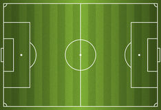 Realistic Vector Football - Soccer Field. A realistic textured grass football / soccer field. Vector EPS 10. File contains transparencies stock illustration