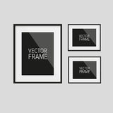 Realistic vector frame black Royalty Free Stock Photos