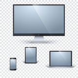Realistic vector gadgets template Stock Image
