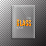 Realistic Vector Glass Plate Template Icon. EPS10 Vector Plastic Stock Image