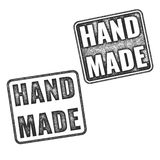 Realistic vector Handmade grunge rubber stamps Stock Images