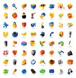 Realistic vector icons set Stock Image