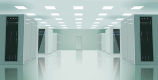Realistic vector illustration of a server room. Realistic Stock Images