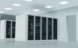Realistic vector illustration of a server room. Realistic Royalty Free Stock Photos