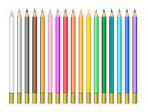 Realistic pencils set Stock Images