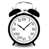 Realistic vector illustration of wall clock. Royalty Free Stock Photo