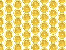 Lemon pattern. Realistic vector lemon fruit pattern texture vector illustration
