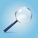 Realistic vector magnifying glass Royalty Free Stock Image