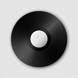 Realistic vector music gramophone vinyl LP record icon. Design template of retro long play. Vector EPS10 illustration Royalty Free Stock Photography