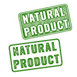 Realistic vector Natural Product rubber stamp Royalty Free Stock Image