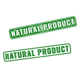 Realistic vector Natural Product rubber stamp Royalty Free Stock Photo