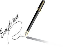 Realistic vector pen Stock Image