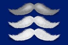 Realistic vector Santa`s mustaches vector illustration