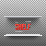 Realistic Vector Shelf. EPS10 Empty Shelf for Store, Exhibitions Stock Images