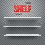 Realistic Vector Shelf. EPS10 Empty Shelf for Store, Exhibitions Royalty Free Stock Photo