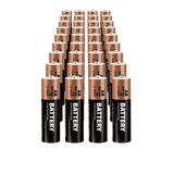 Realistic vector batteries. Realistic vector single AA batteries Royalty Free Stock Photography