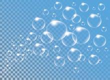 Realistic vector  Soap Bubbles vor decoration Royalty Free Stock Images