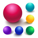 Realistic vector spheres Royalty Free Stock Photography