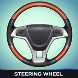 Realistic Vector Steering Wheel Stock Photo