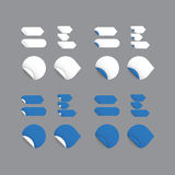 Realistic vector stickers - blue collection. Modern design, blan Royalty Free Stock Photography