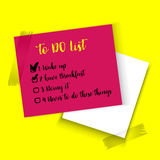 Realistic vector sticky notes with shadow and text isolated. Color realistic vector sticky notes with shadow and text isolated on yellow background. Post it stock illustration