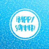 Realistic vector summer poster. Blue water top view. vector illustration