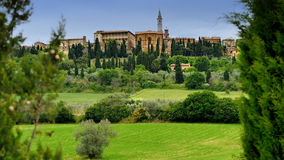 Realistic View of the Pienza Royalty Free Stock Photos