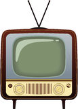 Realistic vintage TV. Illustration on white background Royalty Free Stock Photography