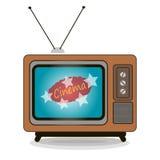 Realistic vintage TV. Old TV movie vector illustration retro style Stock Photo