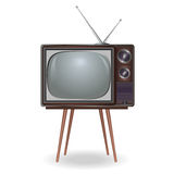 Realistic vintage TV over white Stock Photo
