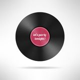 Realistic vinyl disc record. Vintage music Stock Images