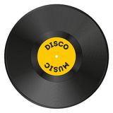 Realistic vinyl record with disco Royalty Free Stock Image