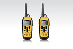 Realistic walkie talkie waterproof devices. Stock Images
