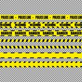 Realistic warning tapes royalty free illustration