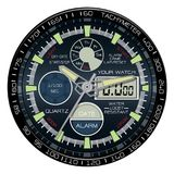 Realistic watch chronograph clock face on white background luxury vector Stock Photography