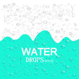Realistic water drops. Blue abstract background. Vector illustration EPS10. Realistic water drops. Blue abstract background. Vector illustration EPS10 royalty free illustration