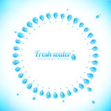 Realistic water drops circle vector frame Stock Photo