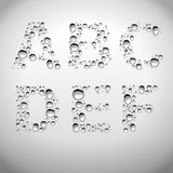 Realistic Water Drops Font From A To F Royalty Free Stock Images