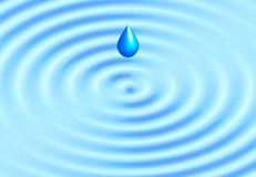 Realistic water ripple blue background Royalty Free Stock Image
