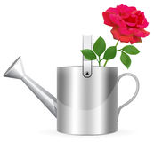 Realistic watering can Stock Photos