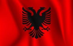 Realistic waving flag of the Albania. Fabric textured flowing flag,vector EPS10. Fabric textured flowing flag,vector EPS10 vector illustration