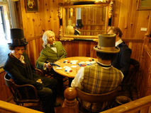Realistic wax figures at the wall drug store Royalty Free Stock Images