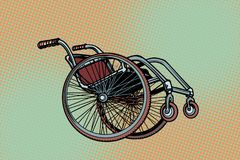 Realistic wheelchair, symbol International Day of Persons with D vector illustration